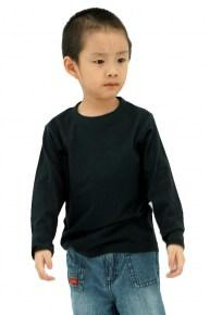 MD Kids Fullycombed Long Sleeve - Black